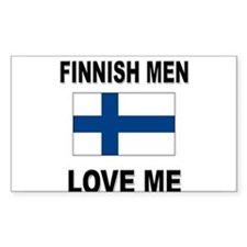 Finnish Men Love Me Rectangle Decal