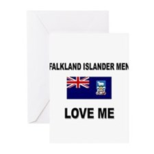 Falkland Islander Men Love Me Greeting Cards (Pk o