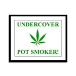 Undercover Pot Smoker Framed Panel Print