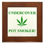 Undercover Pot Smoker Framed Tile