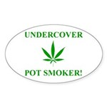 Undercover Pot Smoker Oval Sticker (10 pk)