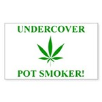 Undercover Pot Smoker Rectangle Sticker 10 pk)