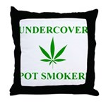 Undercover Pot Smoker Throw Pillow