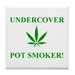 Undercover Pot Smoker Tile Coaster