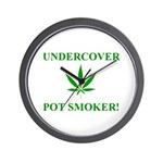 Undercover Pot Smoker Wall Clock