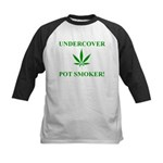 Undercover Pot Smoker Kids Baseball Jersey