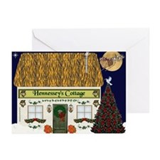 Hennessey's Cottage Christmas Cards (Pk of 10)