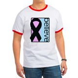 Pink and Blue (Believe) Ribbon T