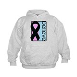 Pink and Blue (Believe) Ribbon Hoodie