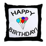 'Happy Birthday!' Throw Pillow