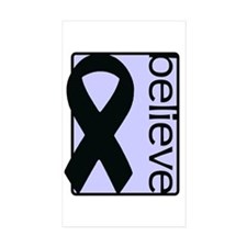 Periwinkle (Believe) Ribbon Rectangle Sticker 50