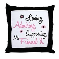 Loving Admiring 1 BC (Friend) Throw Pillow