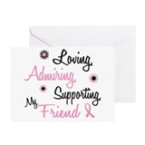Loving Admiring 1 BC (Friend) Greeting Card