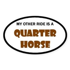 My Other Ride Quarter Horse Oval Sticker (50 pk)