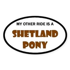 My Other Ride Shetland Pony Oval Decal