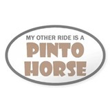 My Other Ride Is A Pinto Horse Decal