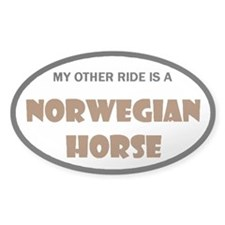 My Other Ride Norwegian Horse Oval Decal