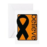 Orange (Believe) Ribbon Greeting Card