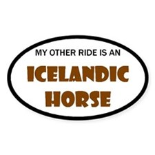 My Other Ride Icelandic Horse Oval Decal