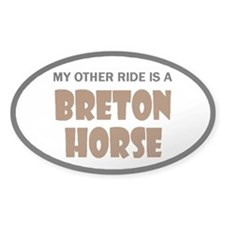 My Other Ride Breton Horse Oval Sticker (10 pk)