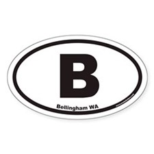 Bellingham WA B Euro Oval Decal