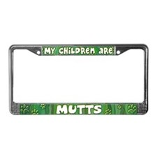 My Children Mutt License Plate Frame