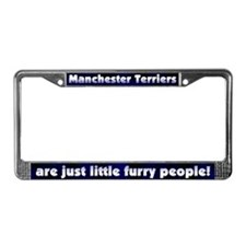 Furry Ppl Manchester Terrier License Plate Frame