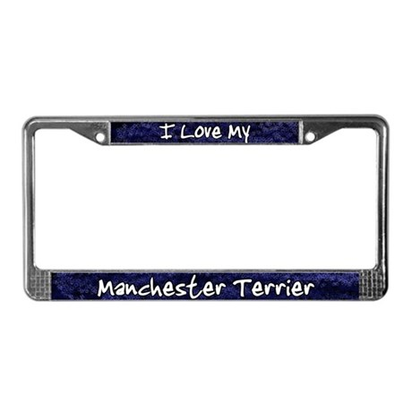 Funky Love Manchester Terrier License Plate Frame