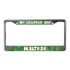 My Children Maltese License Plate Frame