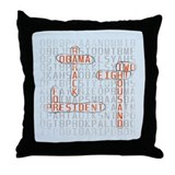 Word Search Obama Throw Pillow