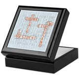 Word Search Obama Keepsake Box