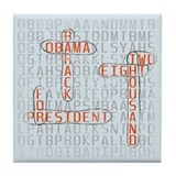 Word Search Obama Tile Drink Coaster