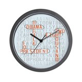 Word Search Obama Wall Clock
