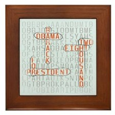 Word Search Obama Tile (Framed)