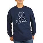 The Spring Baby Long Sleeve Dark T-Shirt