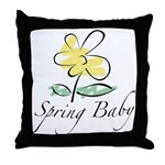 The Spring Baby Throw Pillow