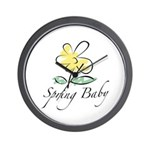 The Spring Baby Wall Clock