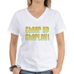 Willy Wonka's Cheer Up Charley Women's V-Neck T-Sh