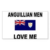 Anguillian Men Love Me Rectangle Decal