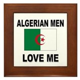 Algerian Men Love Me Framed Tile