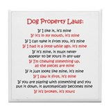 Dog Laws Tile Coaster