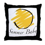The Summer Baby Throw Pillow