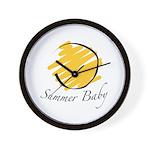 The Summer Baby Wall Clock
