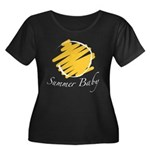The Summer Baby Women's Plus Size Scoop Neck Dark