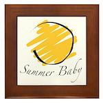 The Summer Baby Framed Tile