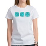 Cyan Owls Design Women's T-Shirt