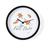 The Fall Baby Wall Clock