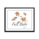 The Fall Baby Framed Panel Print