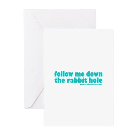 Rabbit Hole Greeting Cards (Pk of 10)
