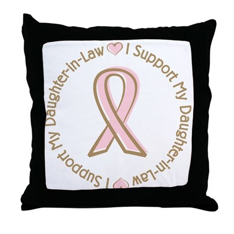 Breast Cancer Daughter-in-law Throw Pillow